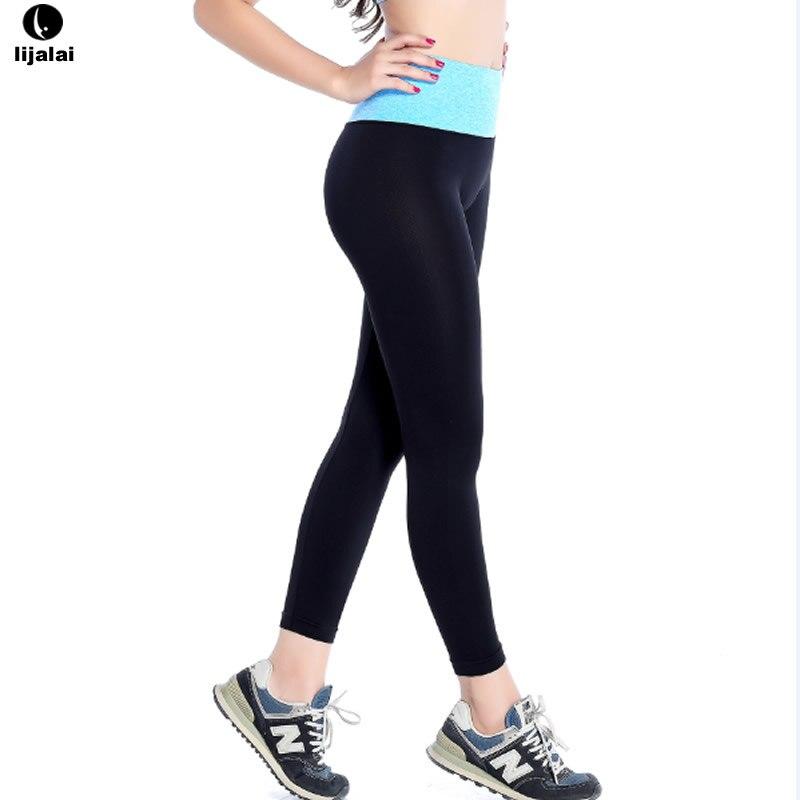 Prix pour Femmes Yoga Élastique Sport Pantalon Mèche Leggings Exercice Collants Femelle Sport Élastique Fitness Course Pantalon Mince Pantalon