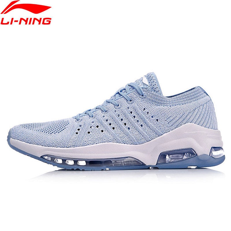 Li Ning Women BUBBLE FACE WG Walking Shoes Mono Yarn Classic LiNing Cushion Sports Shoes Breathable