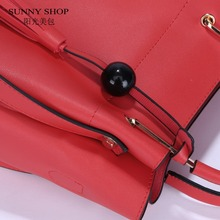 SUNNY SHOP Composite Bag 2 Bag/Set  Fashion Designer Women Bag With Small Messenger Bag  High Quality PU Leather TasselHandbags