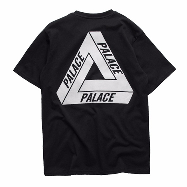 2016 Homens Novos do 3 M Reflexivo Palácio Skates Camiseta Boa qualidade 100% Algodão Hip Hop T-Shirt Dos Homens Palácio Palácio Tee Tshirt