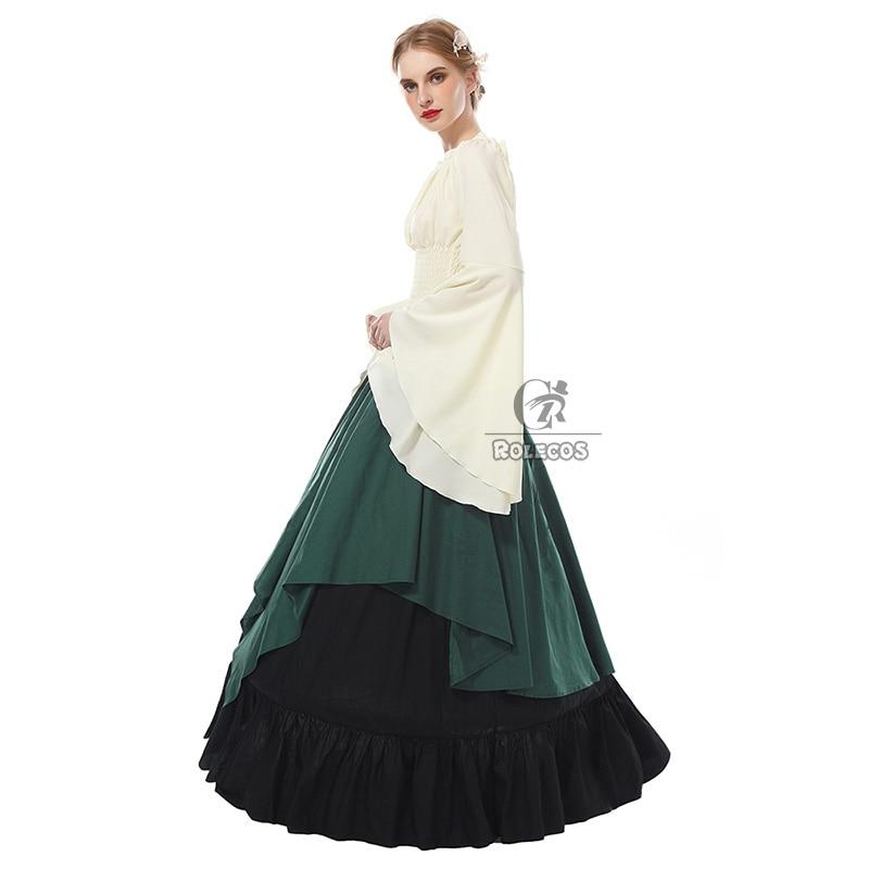 ROLECOS Women Medieval Dress Renaissance Victorian Evening Dresses 4 ...