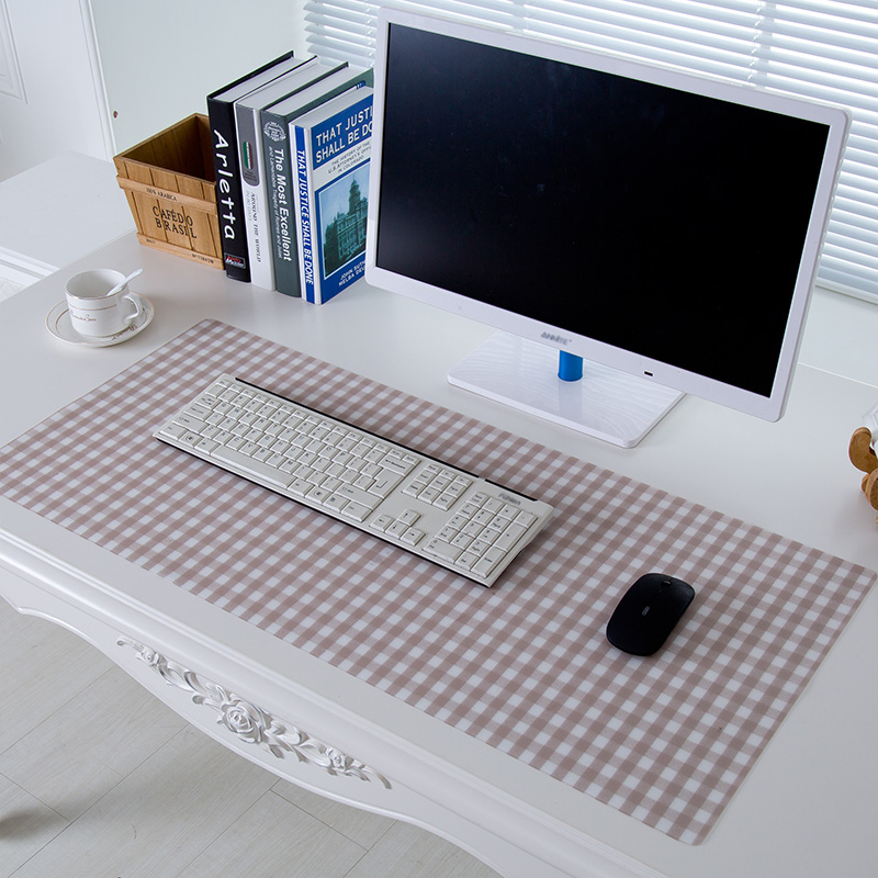 RUBIHOME Soft Glass PVC Tablecloth for Desk Home Placemat Mouse Pad Waterproof