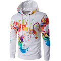 Brand 2017 Hoodie Digital Print Irregular Ink Hoodies Men Fashion Tracksuit Male Sweatshirt Off White Hoody Mens Purpose Tour