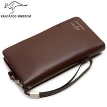 Kangaroo Kingdom Men Bag Genuine Leather Men Clutch Bags Brand Handbag Purse Business Men Clutch Wallet