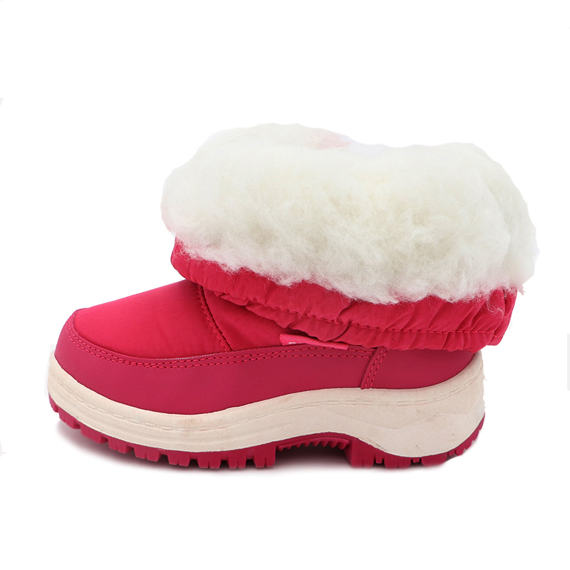 Image 4 - Cute Eagle Winter Girl's Nonslip Snow Boots Kids Mountaineering Skiing Warm Snowshoe School Outdoor Activities Eu Size 22 33-in Boots from Mother & Kids