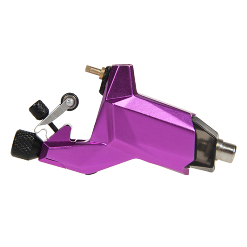 ФОТО Purple Tattoo Aluminum Rotary Tattoo Machine Easy Tattoo Needles Professional Tattoo Gun for Tattoo Starter Kit Use Tattoo Ink