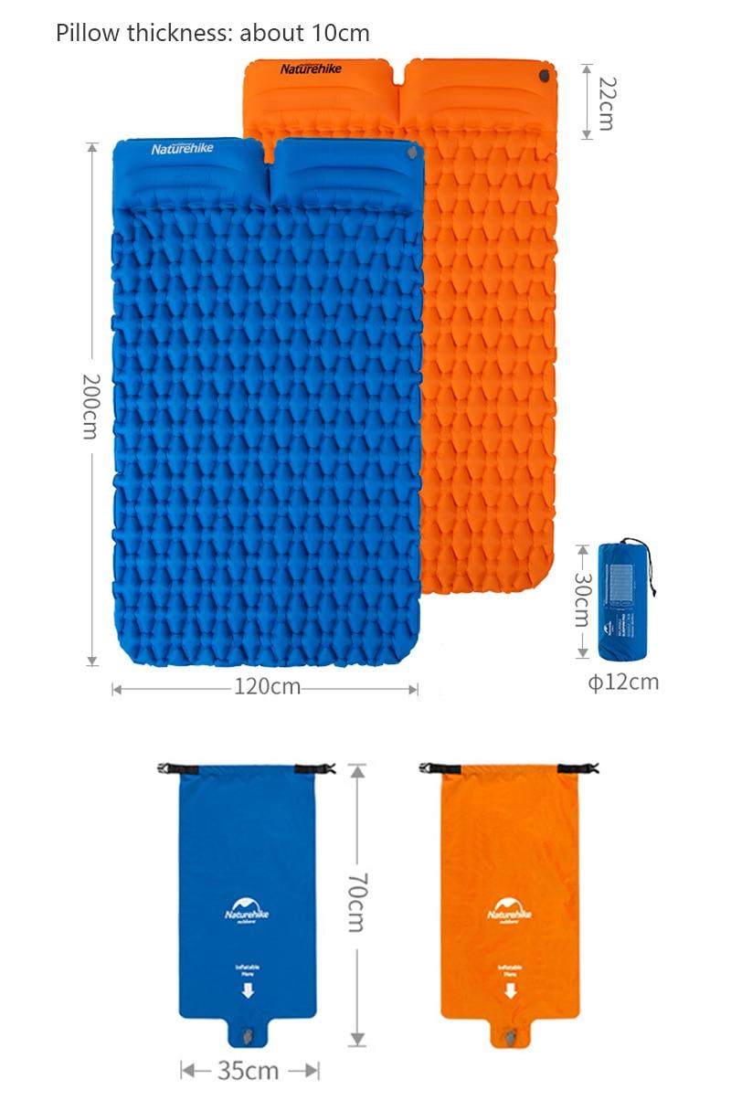almofada de dormir dupla almofada à prova de umidade