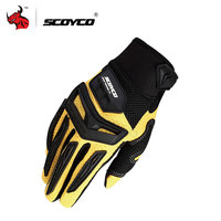 SCOYCO Motorcycle Motorbike Enduro Dirt Bike Riding Gloves Motorcross Off Road Racing Gloves Rubber Protection Breathable