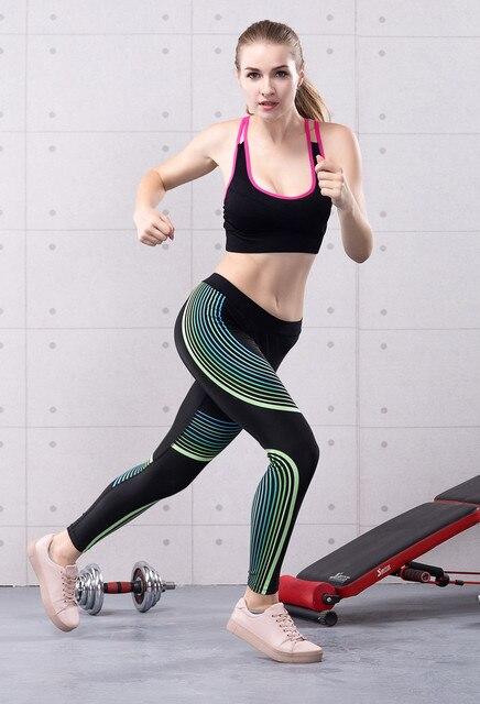 d2b1faeb93a5b 2017 Spring Women Sexy Yoga Sports Pants Streamer Compression Leggings Gym  Skinny Fitness Sportswear S-XL