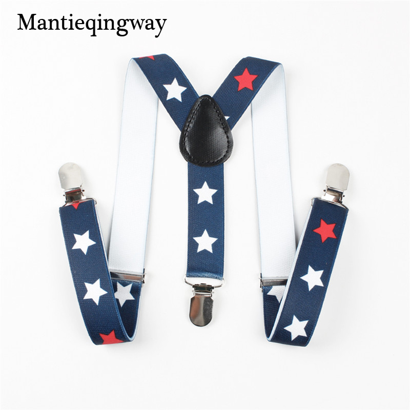 Mantieqingway Braces Kids Suspenders for Girls Boys Pants Trouser 3 Clip-on Elastic Suspenders for Wedding Clothing Accessories