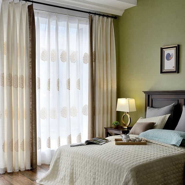 Voile Hilado apagón Cortinas jacquard tulle ventana casa de estilo ...