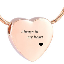 Waterproof Smooth Floating Heart Stainless Steel Cremation Pendant for Ashes Jewelry Remains Souvenir Keepsake Necklace IJD9952