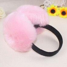 2016 Winter Women/Girl Fluffy Cute Earmuff Warm Solid Color Earmuffs Ladies Pink Warmers Earlap Female Winter Warm Earmuffs