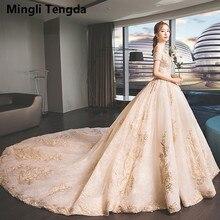 Mingli Tengda Bride Dress Royal Train Wedding Dress