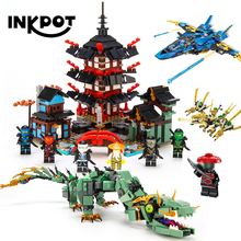 Ninjagoo храмовый золотой дракон строительные блоки модельный комплект совместимый с legoingly ninjagoo Фигурки игрушки для детей