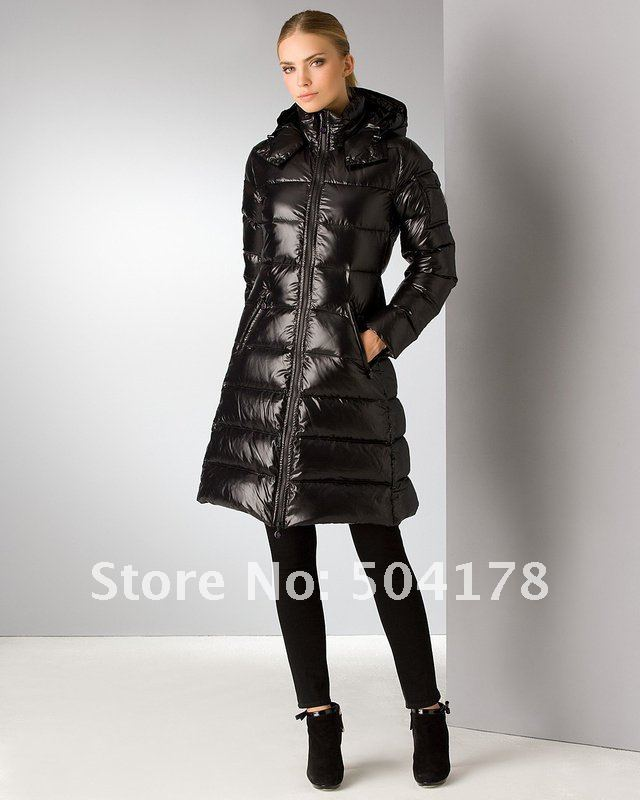 Hot Selling Black Fashion Long Jacket Women Down Jackets Warm Down