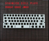 Stainless Steel Positioning Plate GH60 RGB60 JM60 60% Poker Satellite Axis Gaming Keyboard DIY for Cherry Mechanical Keyboard