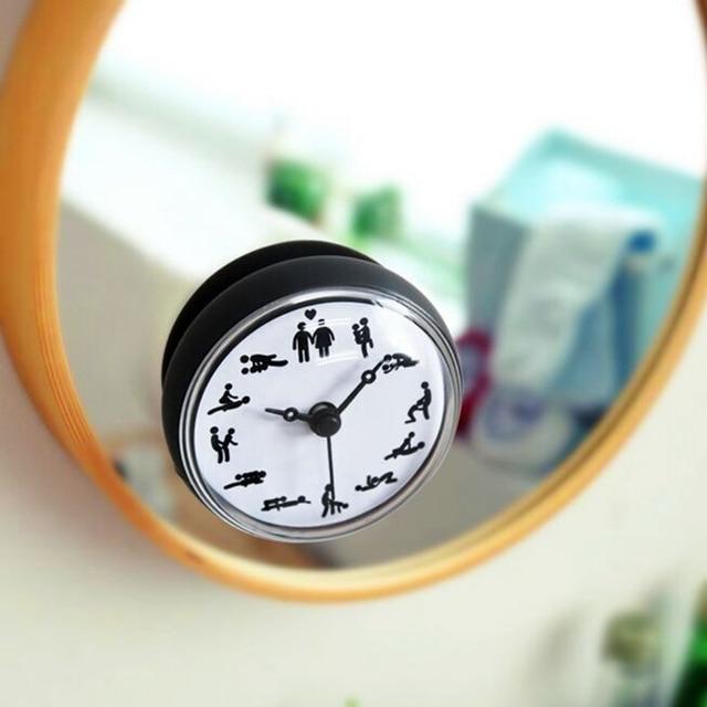 US $8.89 44% OFF|Badezimmer Küche Wasserdicht Dusche Wand mini Uhr Saugnapf  Batteriebetriebene Wohnzimmer Moderne Mode Design in Badezimmer Küche ...