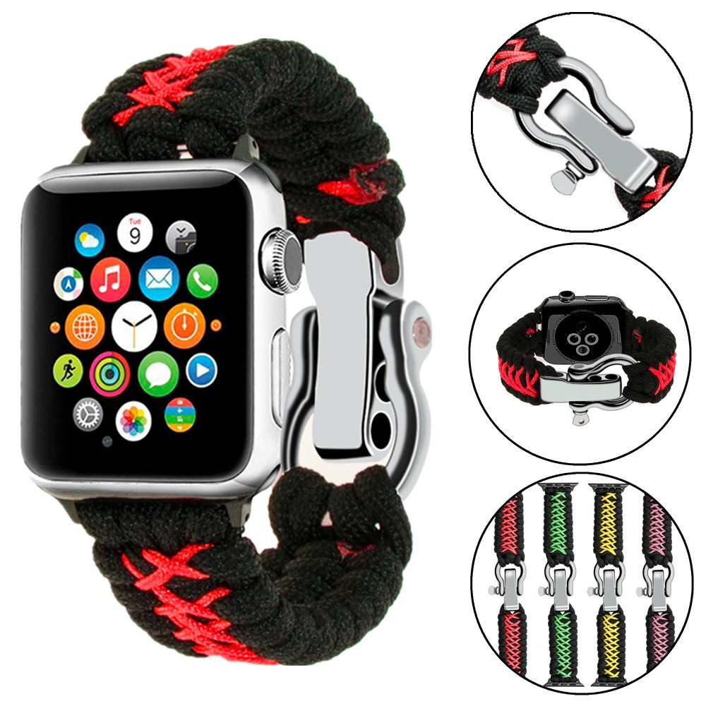 Watchband For Apple Watch Band 42mm 44mm Nylon Rope Weaving Strap 38mm 40mm iWatch Bands Accessories Bracelet Series 5 4 3 2 1