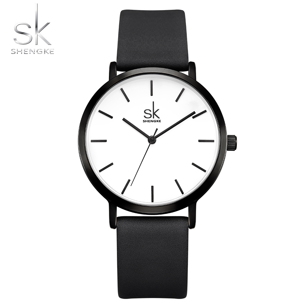 Reloj 2018 Fashion Quartz Women Watch Leather Watches High Quality Clock Wristwatch Relogio Fasculino SHENGKE Top Brand