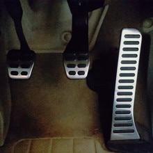 Jameo авто нержавеющая сталь автомобиля педаль газа тормоза Педали Крышка для Volkswagen VW Caddy 2004-2015 комплект Запчасти Аксессуары
