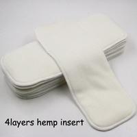 Pororo New Coming 4 Layers Organic Hemp Insert For Reusable Cloth Diaper Super Absorbent Hemp Diaper