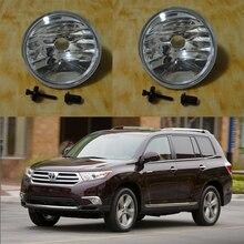 1 Пара Переднего Бампера Противотуманные Фары Дальнего света Без Лампы для Toyota Highlander 2011-2013