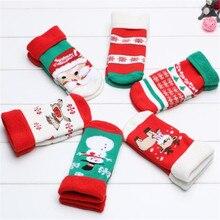 Thiken носок рождественские пол младенца девочка мальчиков мальчик милый мягкий носки