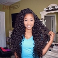 8A Bouncy Curly Lace Frontal Wig Cap Indian Deep Curly Virgin Hair Affordable Kinky Curly Wig With Baby Hair Cheap Full Lace Wig