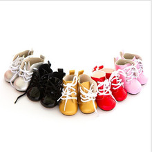 Doll Shoes Fit 18 inch 43cm Shoelaces Born New Baby Doll Accessories BJD White Black Red Pink Lace Boots For Baby Birthday Gift цены онлайн