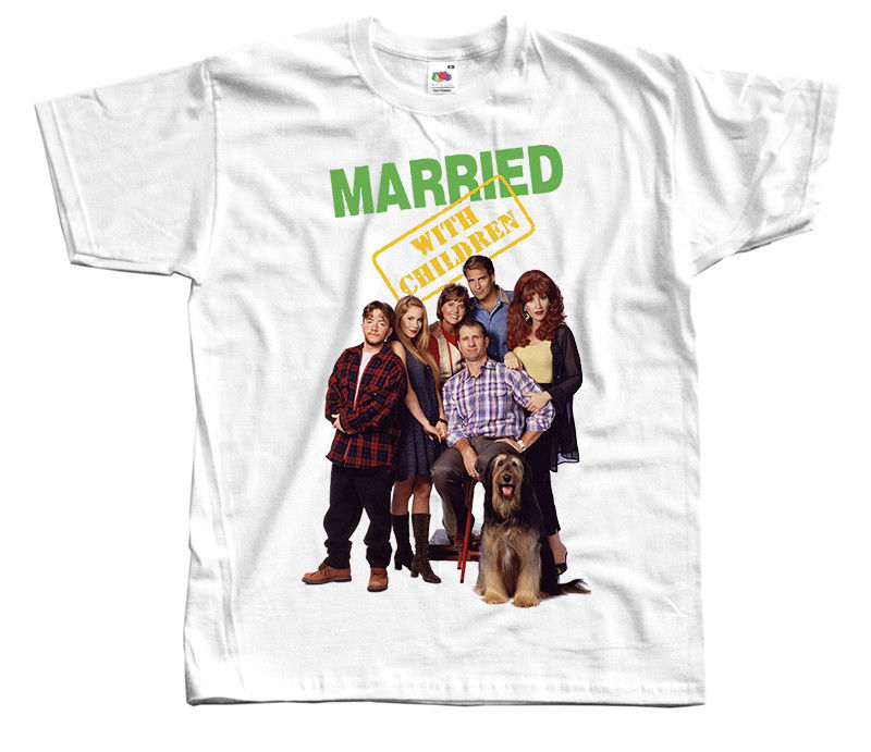 Married with Children V3, TV Series, 1986, T-SHIRT (WHITE) all sizes S to 5XL Hip Hop Clothing Cotton Short Sleeve