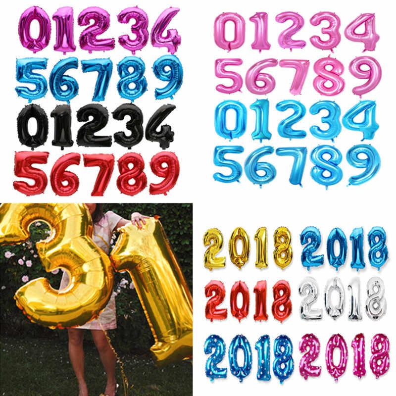 16 32 дюймов большое количество воздушный шар из фольги Свадебные украшения с днем рождения украшения детский воздушный шар гелиевый надувной шар