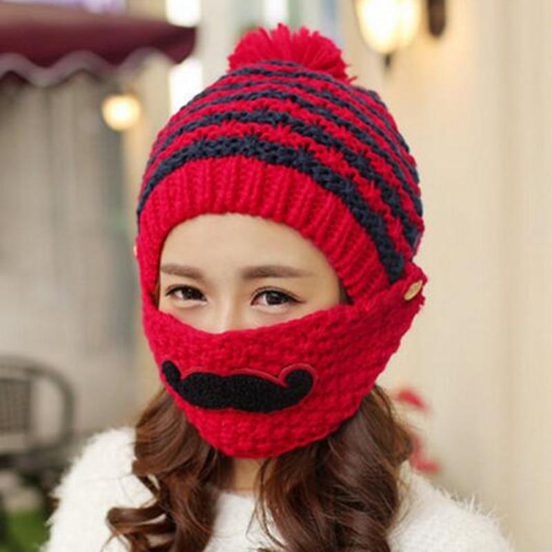 Aliexpress Buy Winter Cute Warm Ear Face Mask Wool Hat Mouth