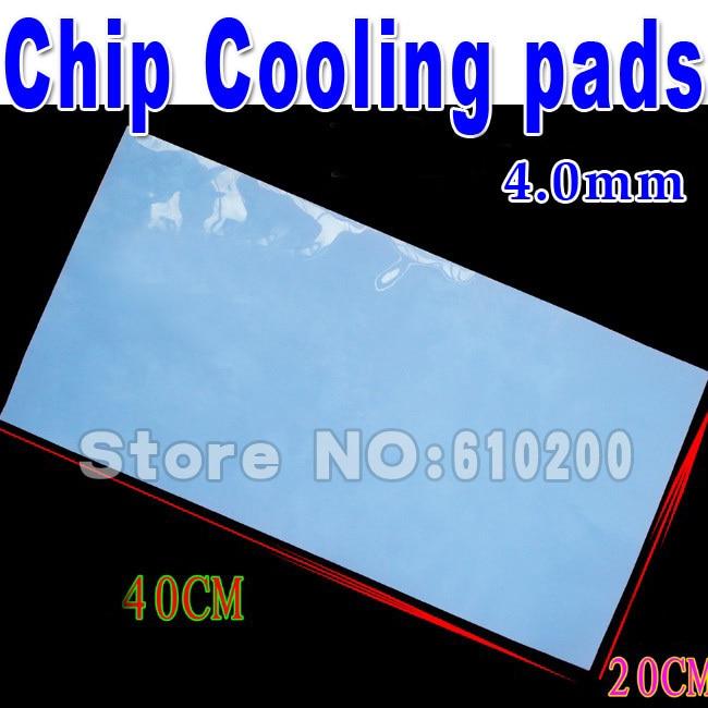 Free shipping 400mm*200mm*4.0mm Blue Silicone Thermal Pad heatsink Cooling pads for CPU GPU VGA Chip Heatsink