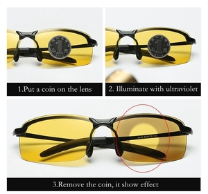 Image 3 - نظارات شمسية جديدة 2018 باللونية المستقطبة للإضاءة الليلية كل قيادة الصيد نظارات شمسية للرجال بإطار معدني UV400 تصميم عصري 3043