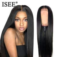 ISEE HAIR Straight Lace Front Wig Remy 360 Lace Frontal Wig 13X4/13X6 Malaysian 150% Density Straight Lace Front Human Hair Wigs