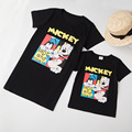 Family T shirt mickey summer short sleeve family look mother and son clothes cartoon black cartoon tshirt korean style outfits