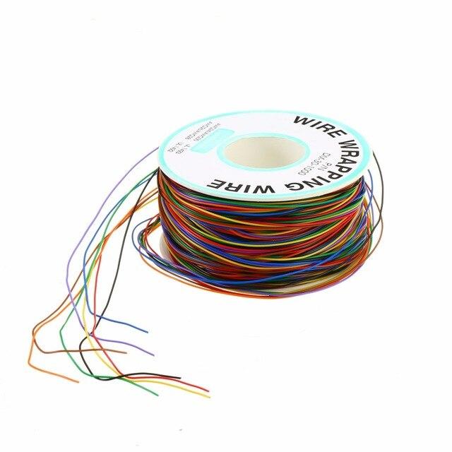 30 AWG Обёрточная бумага пинг-wire 0,25 мм Луженая Медь 8-Цветной обмотка изоляция проводов Тесты кабеля для материнских плат ЖК-дисплей Дисплей