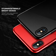 Premium Phone Case For iPhone X 7 8 Luxury Ultra Thin Black Red Cases For iPhone 7 6 6s 8 Plus Cover Accessories Capinha