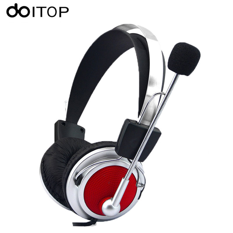 DOITOP Wired Stereo Gaming Headset Deep Bass Game Headphone Earphone with Mic Noise Cancelling for Computer PC Game Plyer A3 active noise cancelling wireless bluetooth headphone stereo deep bass headset over ear earphone with mic for phone pc