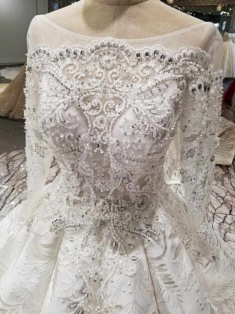 LS11078 2018 Роскошное свадебное платье с длинным рукавом с длинным рукавом с длинным рукавом