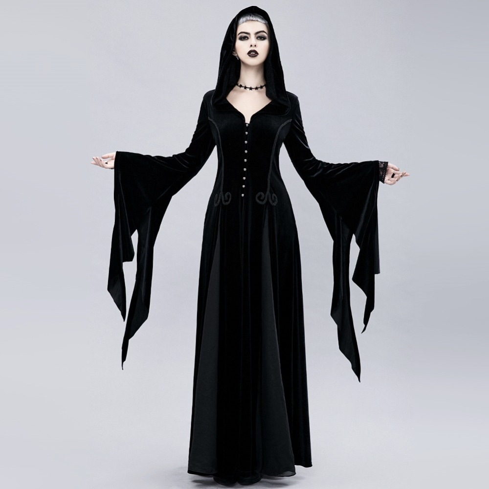 Women Exquisite  Dress Exquisite halloween dress Gothic dress disfraz halloween mujer witch halloween costumes vampire costume