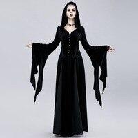 Women Exquisite Dress Exquisite halloween dress Gothic dress disfraz halloween mujer witch halloween costumes vampire costume