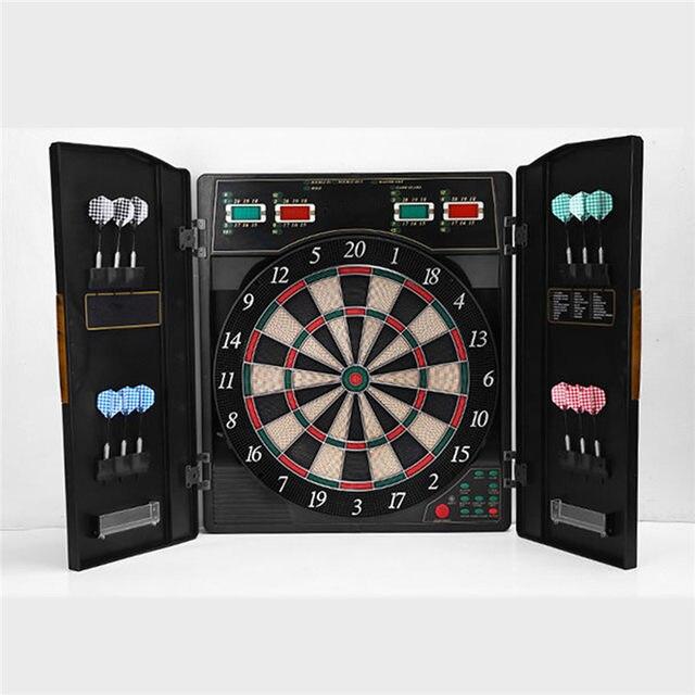 Een Set Dartbord Bullshooter Game Play Elektronische Kast Led Display Spinachtige Indoor 12 Darts 27 Games Met Variaties In Een Set Dartbord