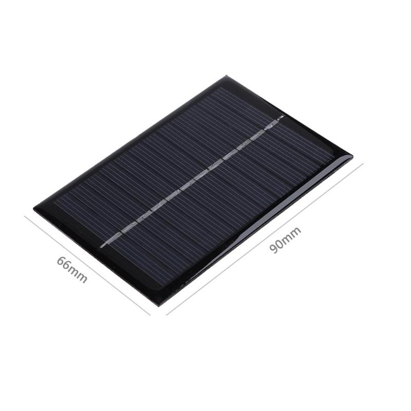 Solar System DIY For Battery Cell Phone Chargers 90x60mm 6V 0.6W DIY Polysilicon Solar Panel Battery Power Bank Charger