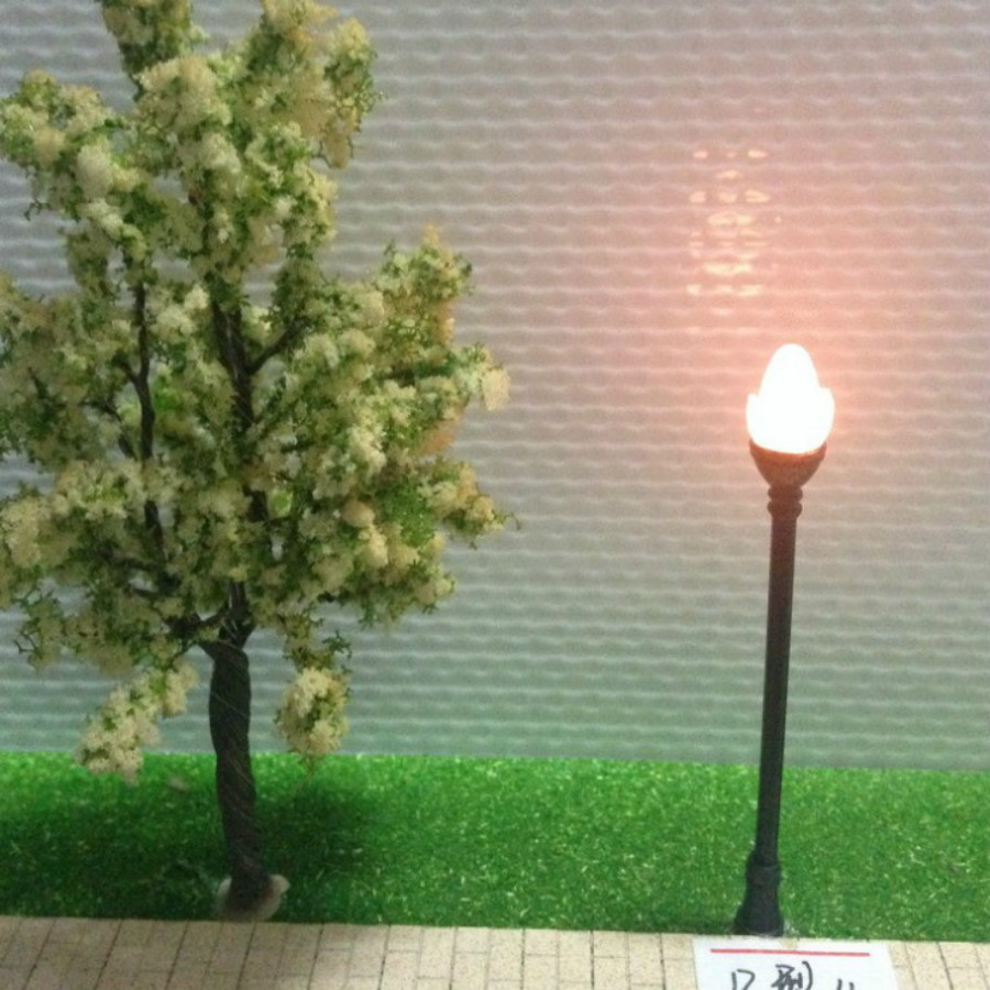 US $11 95 8% OFF|Aliexpress com : Buy 50pcs/lot HO scale model light train  layout lamp post white architectural model materials from Reliable Model