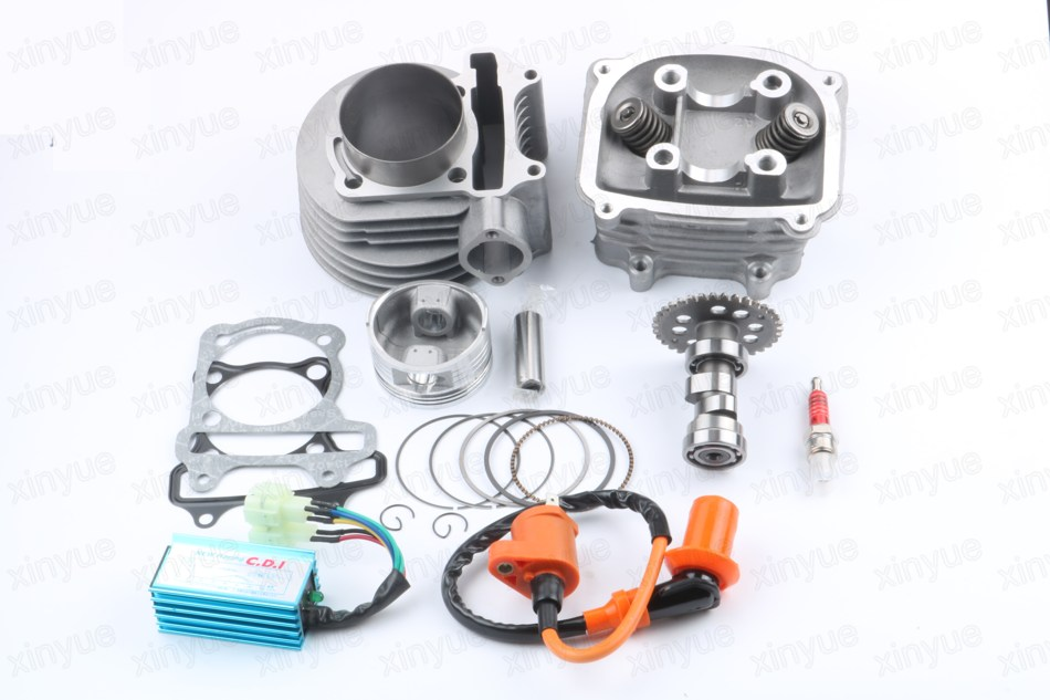 Cylinder and Head 63mm Alloy Big Bore Kit - for GY6 150cc 200cc Scooters A9 Cam 02-1 47mm 10mm 70cc big bore cylinder barrel kit head for aprilia gulliver rally scarabeo sonic sr 50cc