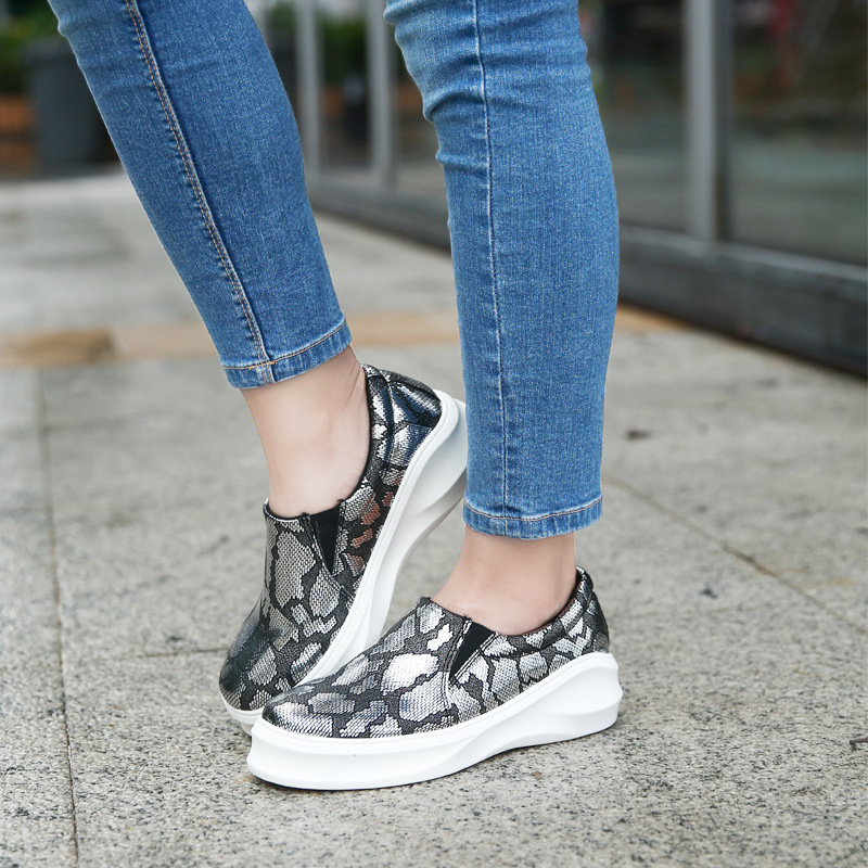 2016 New Spring Fall Fashion Flat font b Women b font Loafers Shoes Platform A Pedal