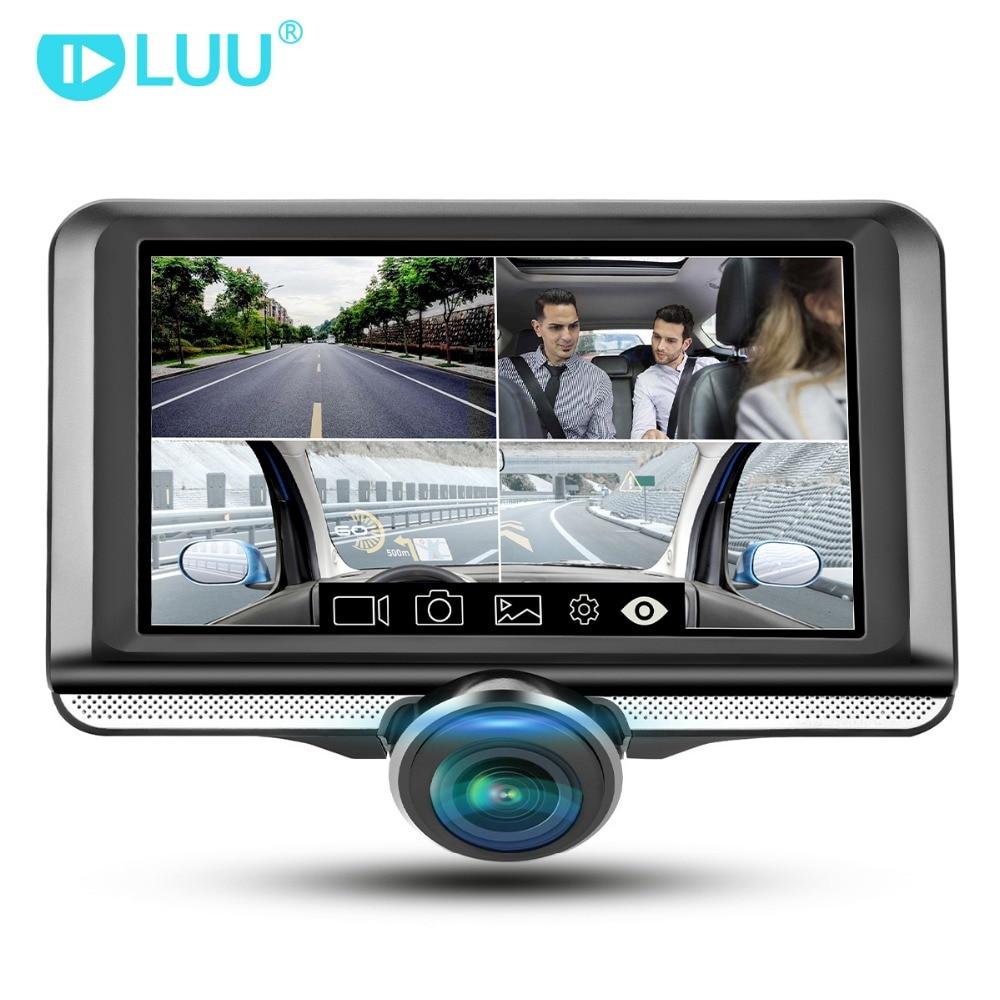 LUU 4.5 ''IPS Touch Screen dash cam 360 gradi Full HD Fisheye Lens Macchina Fotografica dell'automobile dvr