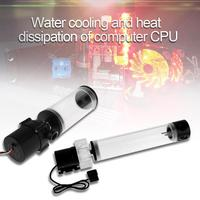 110mm 210mm Cylinder Water Tank G1/4 Thread 19W Pump Computer Water Cooling Radiator Water Cooling Cooler For Computer CPU